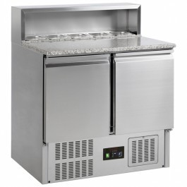 G-Line Tefcold GP92 Stainless Steel 2 Door Gastronorm 1/1 Preparation Counter