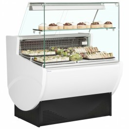 Trimco TAVIRA II 100F White Slimline Serve Over Counter with Flat Glass