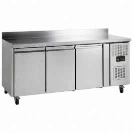 Tefcold GC73 SS 3 Door Gastronorm 1/1 Fan Assisted Refrigerated Counter