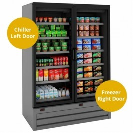 Tefcold Callisto CD140 Dual Temperature Display Chiller & Freezer