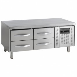 Tefcold UC5240-I 2 x 1/2 Drawers Low Height Gastronorm Counter
