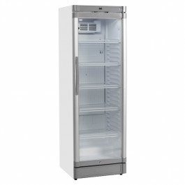 Tefcold GBC375 White Glass Door Merchandiser With LED Interior Light