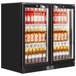 Elstar EM231H Black Back Bar Bottle Cooler with Hinged Doors