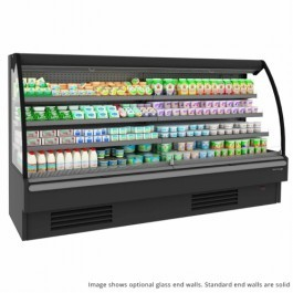 Tefcold Callisto CM250 Chilled Open Front Mid Height Multideck, Base & 3 Shelves