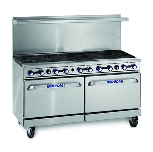 --- IMPERIAL IR-10 --- Ten Burner Twin Oven Range with Backsplash & Shelf