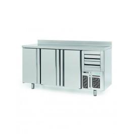 Infrico FMPP2000 Three Door Counter Refrigerator with Upstand
