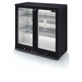 --- INFRICO ZX2 --- Charcoal Bottle Cooler with Black Double Hinged Doors