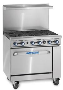 Imperial IR6 6 Burner Oven Range
