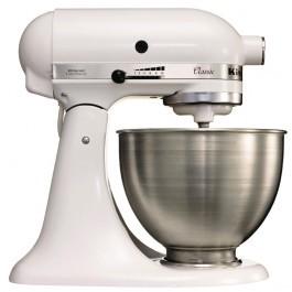 KitchenAid 5K45SSBWH K45 Classic Tilt-Head Stand Mixer 4.3 Litre White - J400