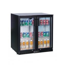 Koldbox KBC2 Hinged Self Closing Two Door Black Bottle Cooler