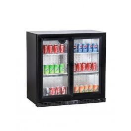 Koldbox KBC2SL Black Bar Double Sliding Door Bottle Cooler