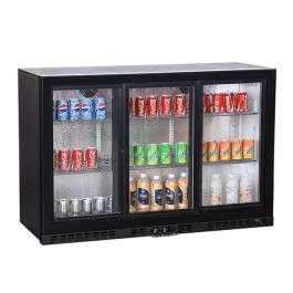 Koldbox KBC3SL Triple Sliding Door Black Bottle Cooler