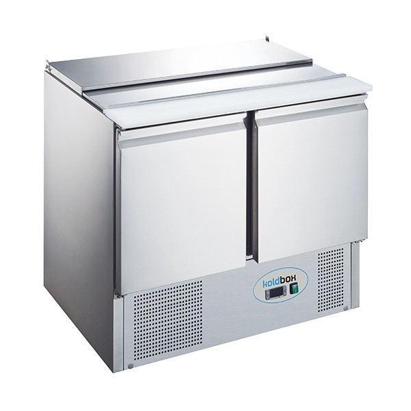 Koldbox KXCC2-PREP Two Door GN 1/1 Salad Prep Counter Fridge