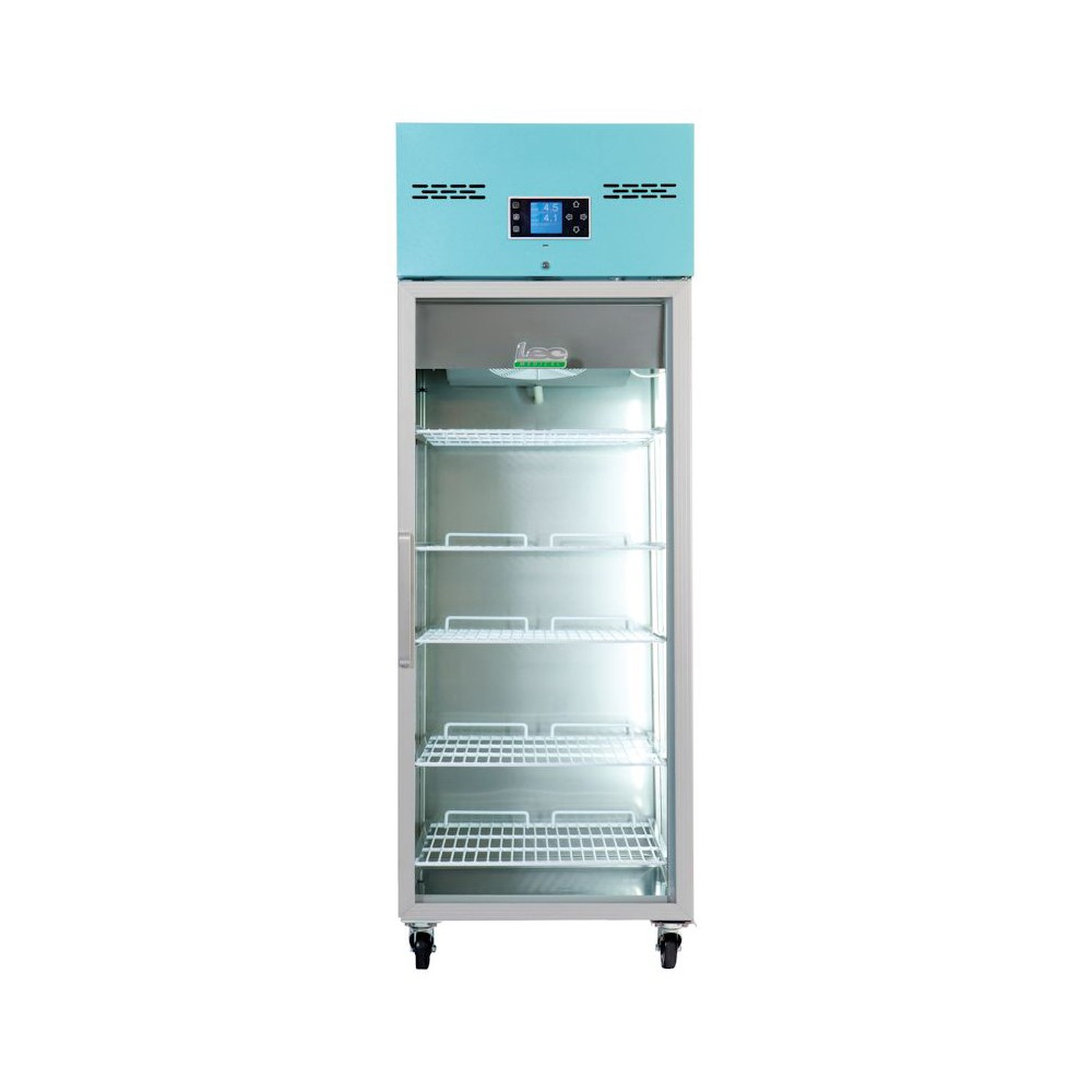 LEC Medical PGR600UK Glass Door Upright Pharamacy Refrigerator - 600 Litres