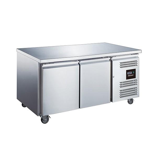 Blizzard LBC2SL Stainless Steel Two Door Slimline Counter Freezer