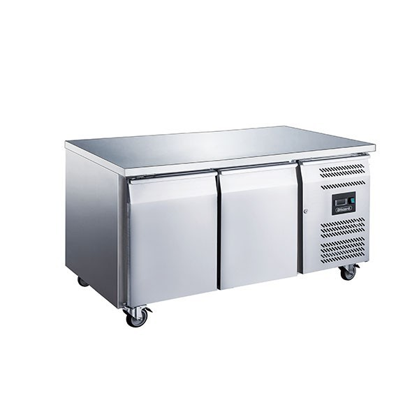 Blizzard LBC2SL Stainless Steel Two Door Slimline Counter Freezer