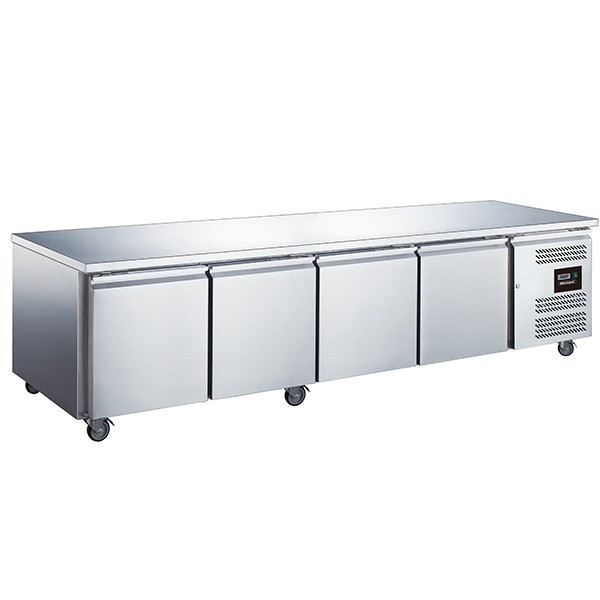 Blizzard LBC4SL Stainless Steel Two Door Slimline Counter Freezer