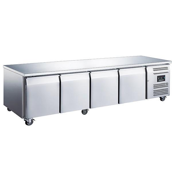 Blizzard LBC4SL Stainless Steel Two Door Slimline Counter Freezer