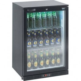 Lec Commercial BC6007K LED Standard Single Door Black Bottle Cooler