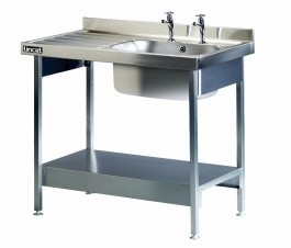 Lincat L881L/H Single Sink Unit with Left Hand Drainer
