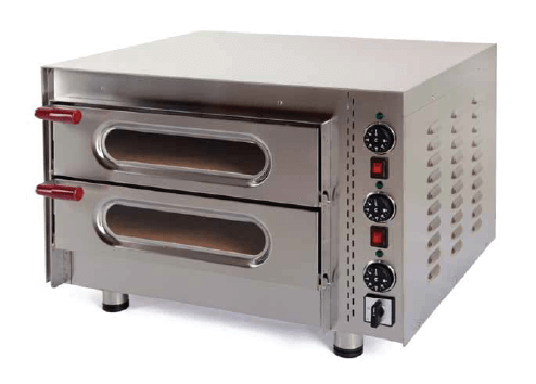 Kingfisher 50/2 Little Italy Twin Deck Midi Pizza Oven with Stone Base