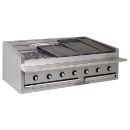 """Bakers Pride L-60R Heavy Duty Counter Top 60"""" Gas Radiant Chargrill"""