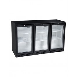 Blizzard LOWBAR3 Low Height Triple Hinged Doors Black Bottle Cooler