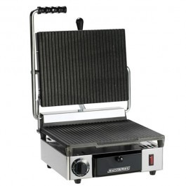 Maestrowave MEMT16000X Ribbed Single Contact Grill