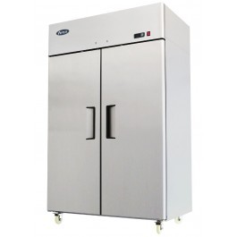 --- ATOSA MBF8114HD  --- Stainless Steel Top Mounted Twin Solid Door GN2/1 Freezer