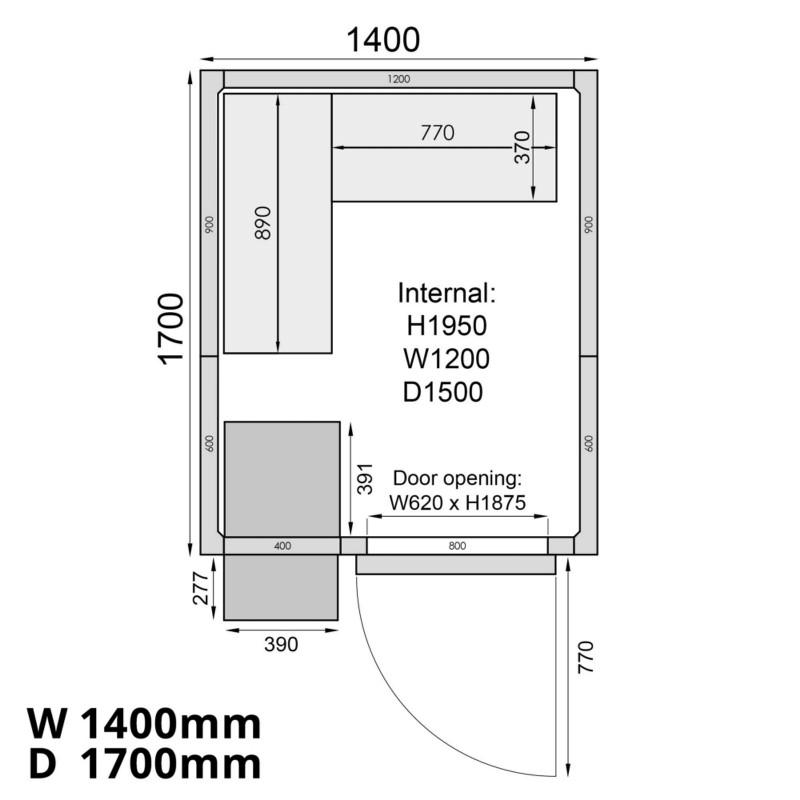 Mercatus ME1417C Walk in Chiller Room 5