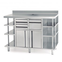 --- INFRICO MCAF1500 --- Back Bar Coffee Unit with Drawers & Upstand - W1468mm