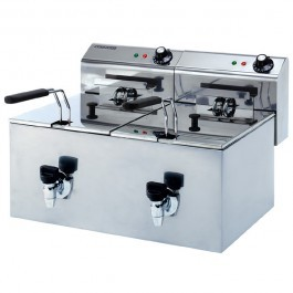Maestrowave MDF88T Double Tank Fryer with Drain
