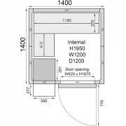 Mercatus ME1414F Walk in Freezer Room 1