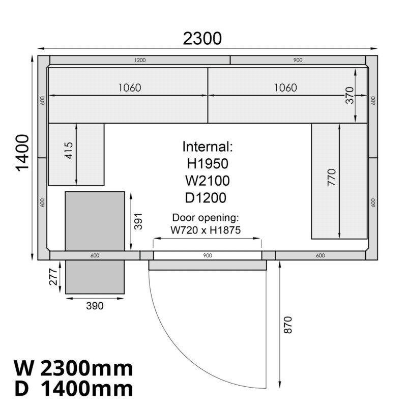 Mercatus ME2314F Walk in Freezer Room
