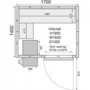 Mercatus ME1714C Walk in Chiller Room 6