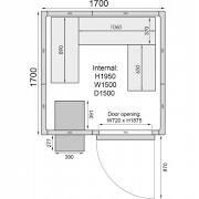 Mercatus ME1717C Walk in Chiller Room 6