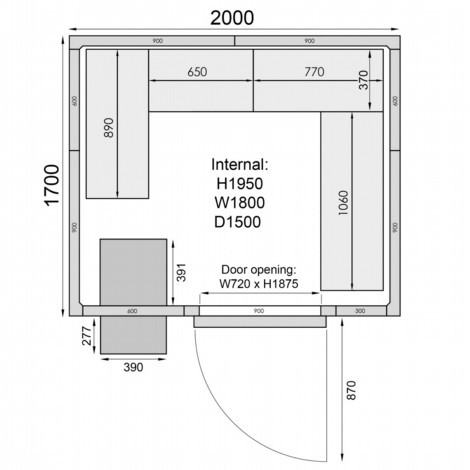 Mercatus ME1720F Walk in Freezer Room
