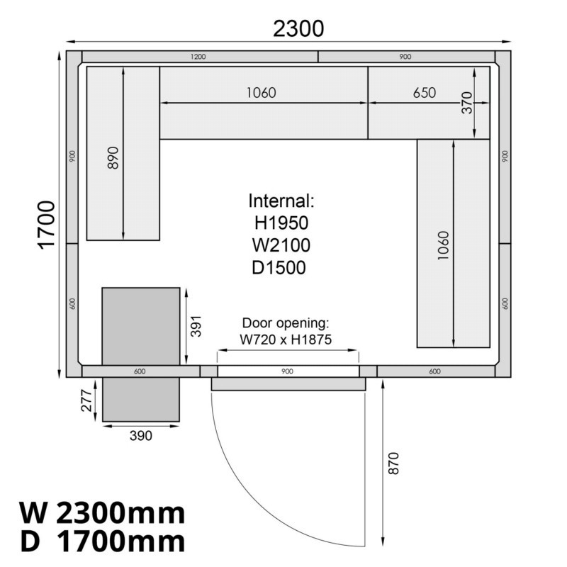 Mercatus ME2317F Walk in Freezer Room 6