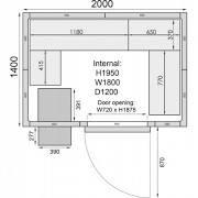 Mercatus ME2014C Walk in Chiller Room 6