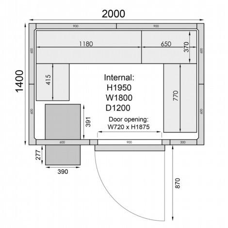 Mercatus ME2014F Walk in Freezer Room 1