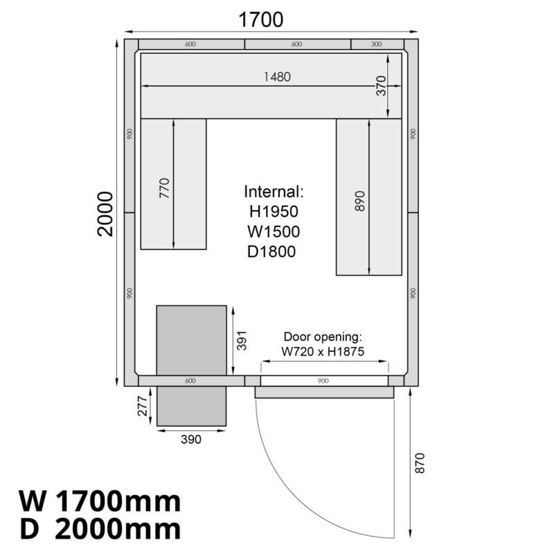 Mercatus ME1720C Walk in Chiller Room 6
