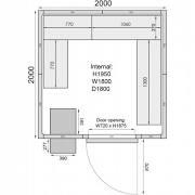 Mercatus ME2020C Walk in Chiller Room 6