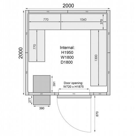 Mercatus ME2020F Walk in Freezer Room