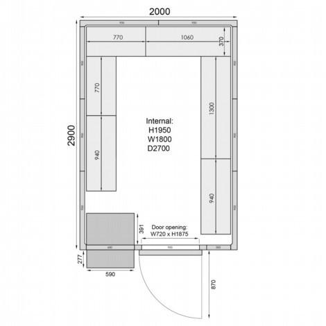 Mercatus ME2029F Walk in Freezer Room
