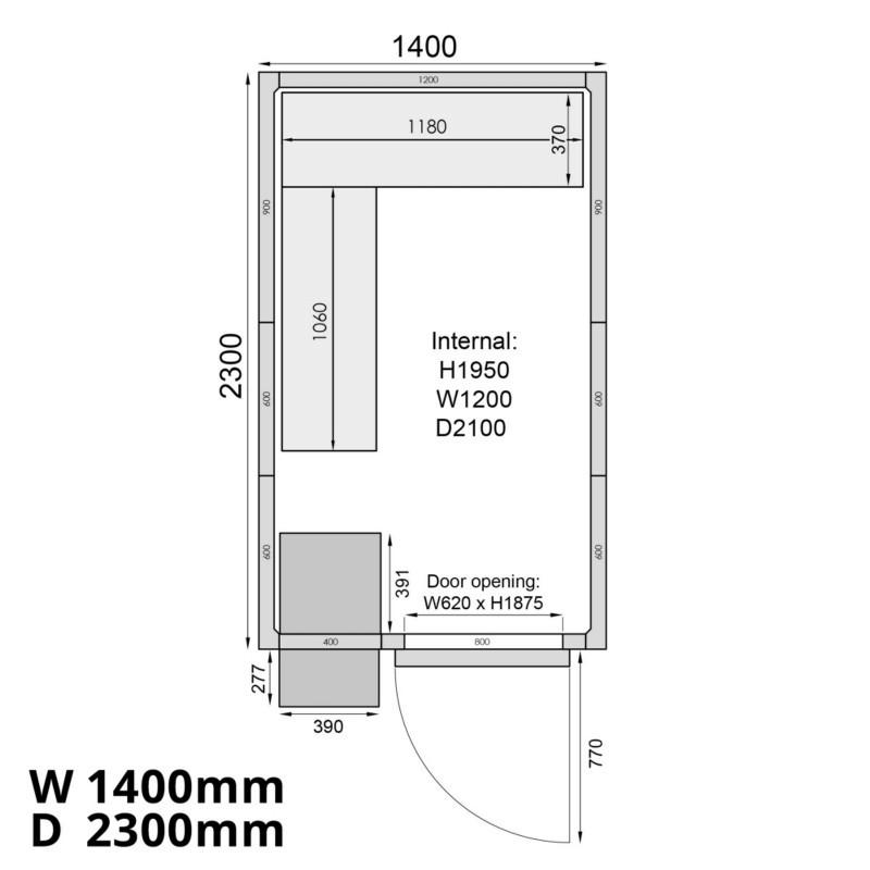 Mercatus ME1423F Walk in Freezer Room