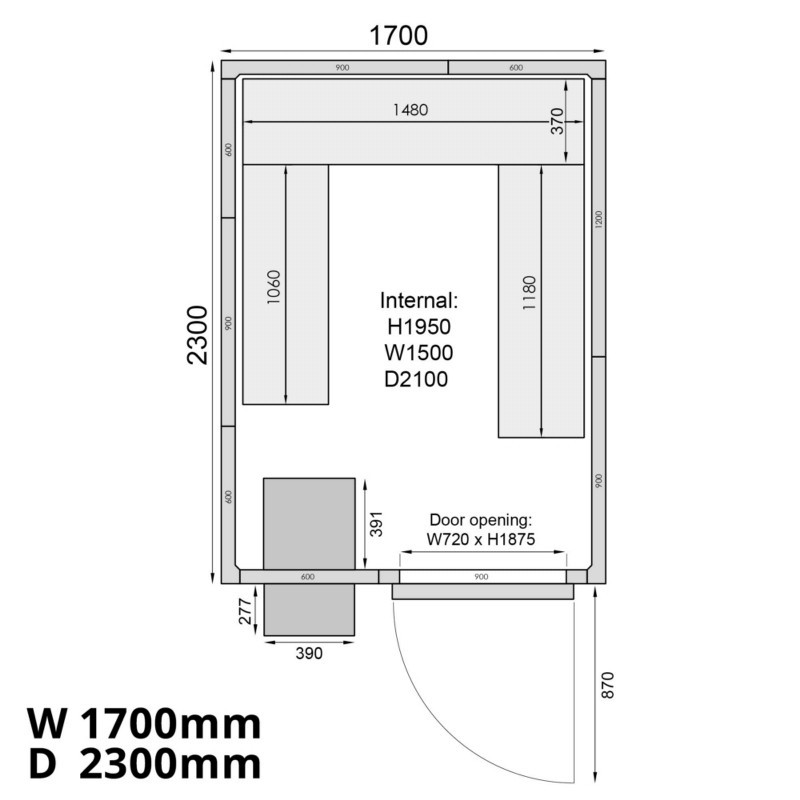 Mercatus ME1723F Walk in Freezer Room