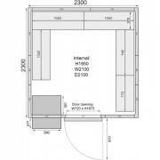 Mercatus ME2323C Walk in Chiller Room 6