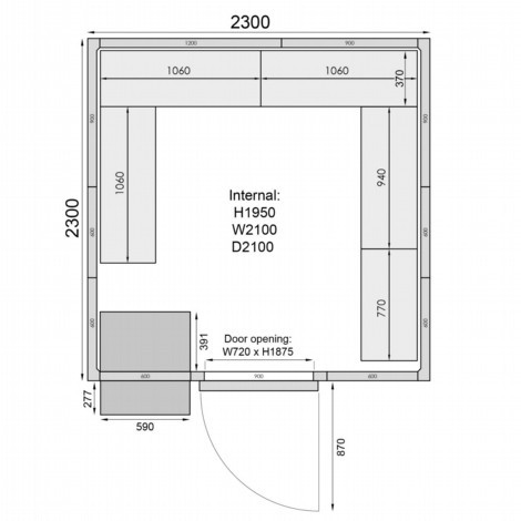 Mercatus ME2323F Walk in Freezer Room 6