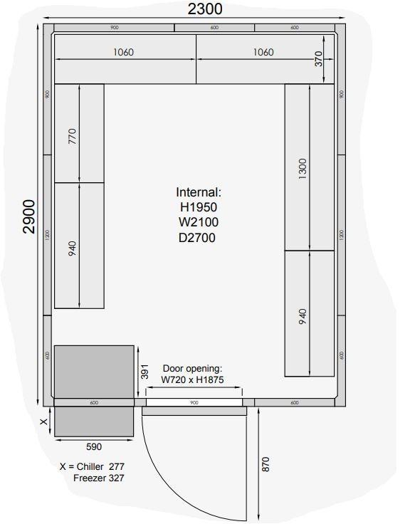 Mercatus ME2329C Walk in Chiller Room 6