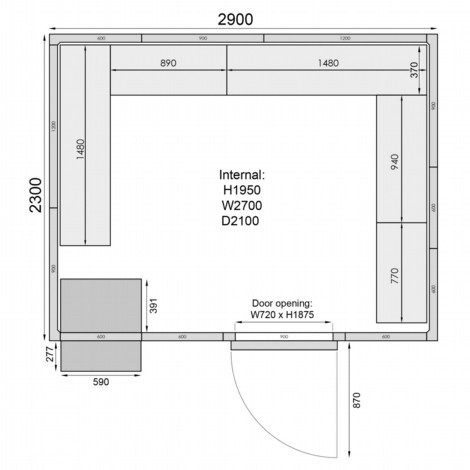 Mercatus ME2329F Walk in Freezer Room 6
